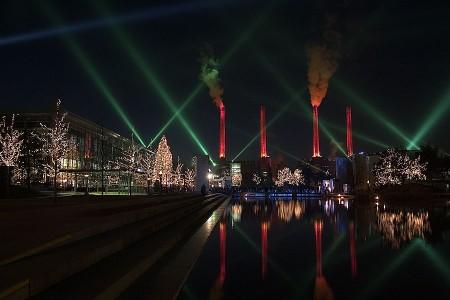 {Weihnachtliche Autostadt} Weihnachtliche Autostadt